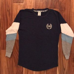 PINK navy colored long sleeved tee, XS